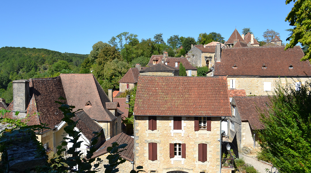Limeuil village rooftops.